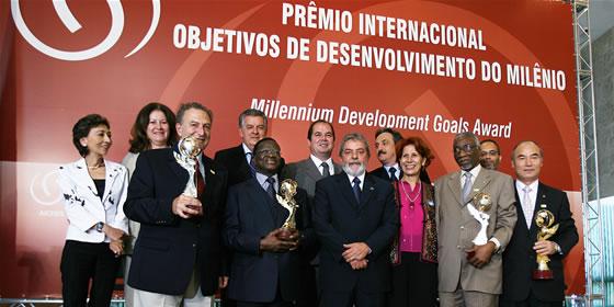 受賞の写真