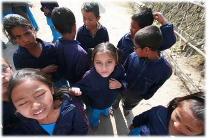 ネパールの子供たち
