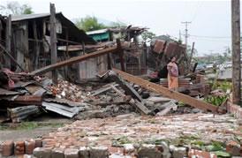 ミャンマー、サイクロン災害