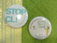 STOP CL 缶バッチ