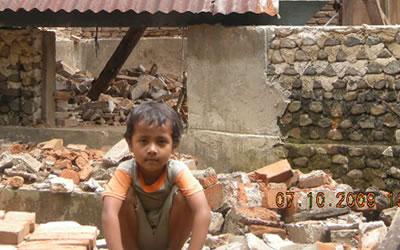 スマトラ沖地震被災地の子ども