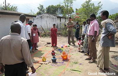 地域住民たちと実習