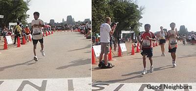 マラソンを完走した子ども達