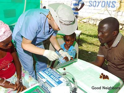 ハイチ地震の被災者へ医療支援