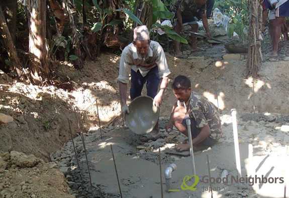 Finam村の工事の様子