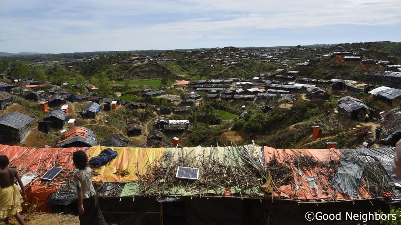 難民キャンプの様子