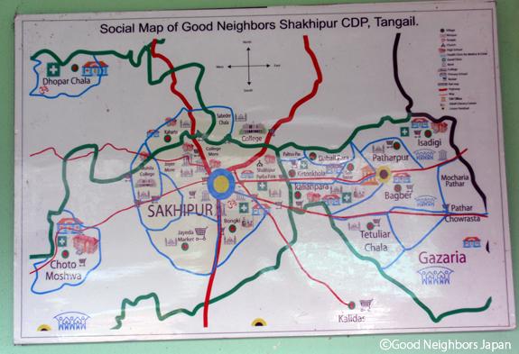 シャキプル事務所に貼ってあった地図